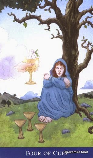 Four Of Cups ~ Llewellyn's Classic Tarot