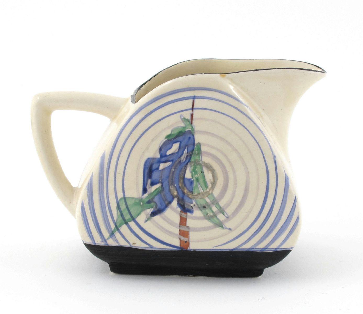 Bizarre Trieste milk-jug by Clarice Cliff