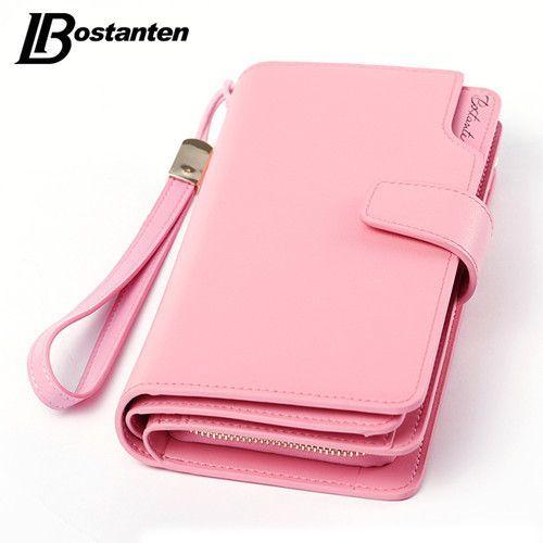 Bostanten Genuine Leather Women Wallets Luxury Brand 2017 New Design High Quality Fashion Girls Purse Card Holder Long Clutch