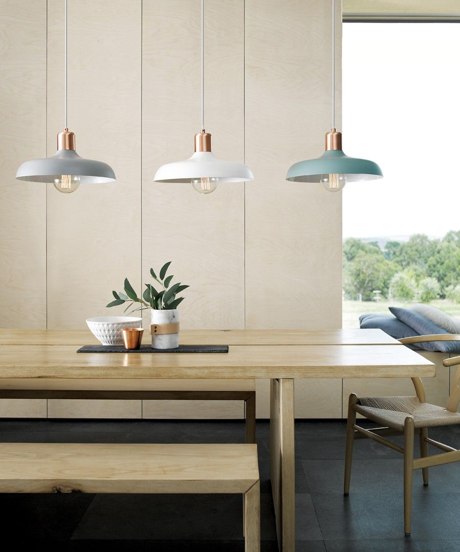 Lights Over Dining Table Croft 1 Light Pendant In Brushed Copper Mint Pendant Lights