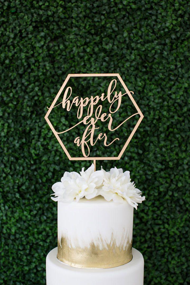 Fresh U0026 Modern Laser Cut Wedding Cake Toppers