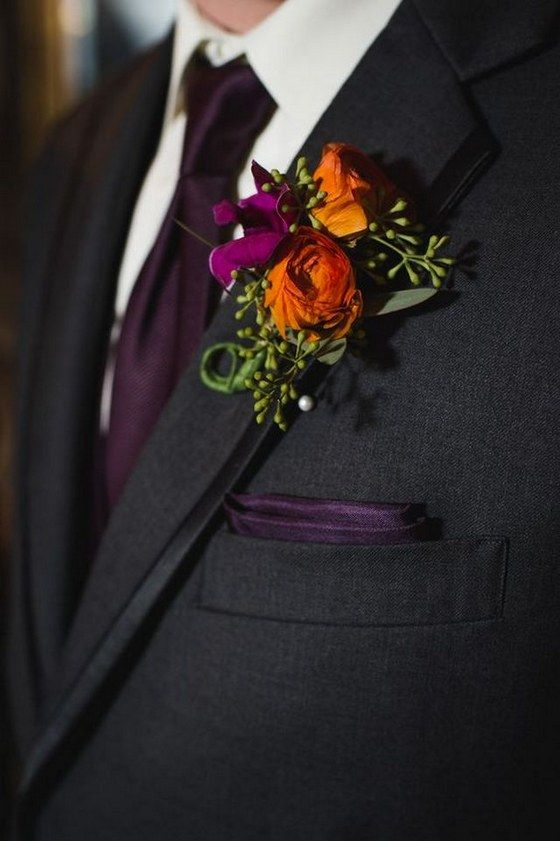 50 Fall Wedding Boutonnieres for Every Groom | Fall wedding ...