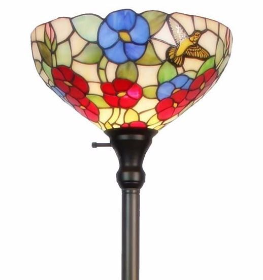 Tiffany Style Hummingbirds Floral Torchiere Floor Lamp 70 Inches Tall Tiffany Style Tiffany Style Lamp Tiffany Style Lighting Tiffany torchiere floor lamp