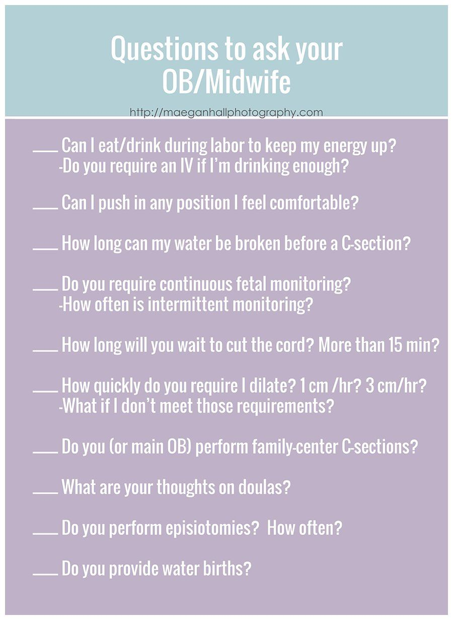 List Of Questions To Ask Your Dr Or Midwife Great