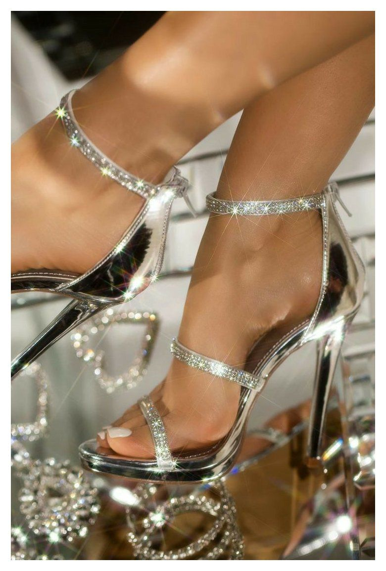 Prom Shoes Silver Promshoessilver In 2021 Prom Shoes Silver Shoes Heels Prom Fancy Heels [ 1155 x 780 Pixel ]