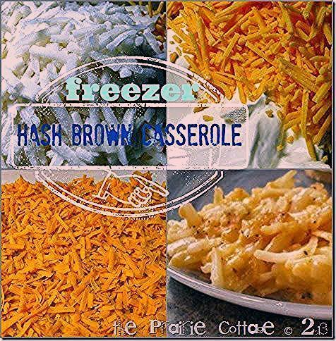 Freezer hashbrown casserole | make ahead meals day 13 | the prairie cottage #tai...