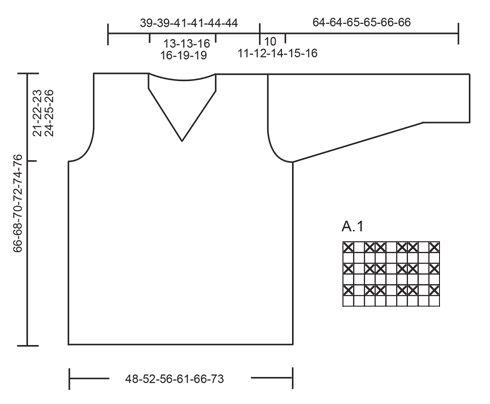 Jersey de punto para hombre DROPS con patrón de relieve y cuello de ...