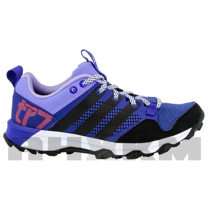 online store e4302 7465e Zapatillas Adidas Kanadia TR 6 de trail running para mujer en colores  morado y negro.