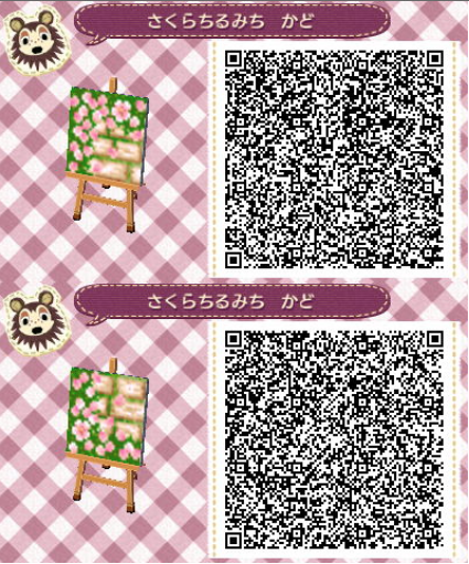 brick path animalcrossing cobblestone path with flowers on sides part 3 out of 3 paths