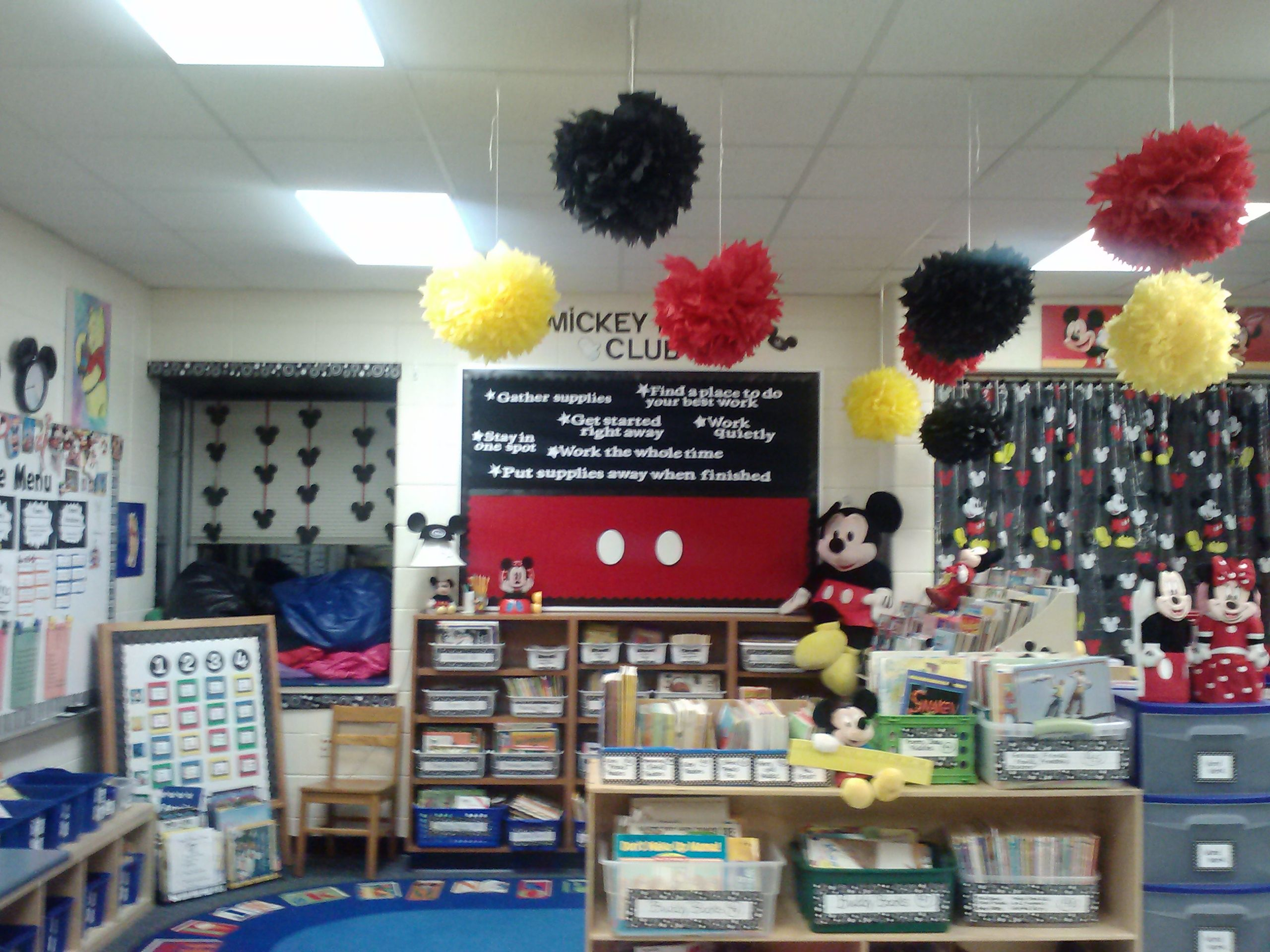 Mickey Mouse Themed Classroom