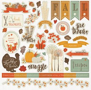 Search: fall > Autumn Day Element Sticker Sheet - Photoplay : A Cherry On Top