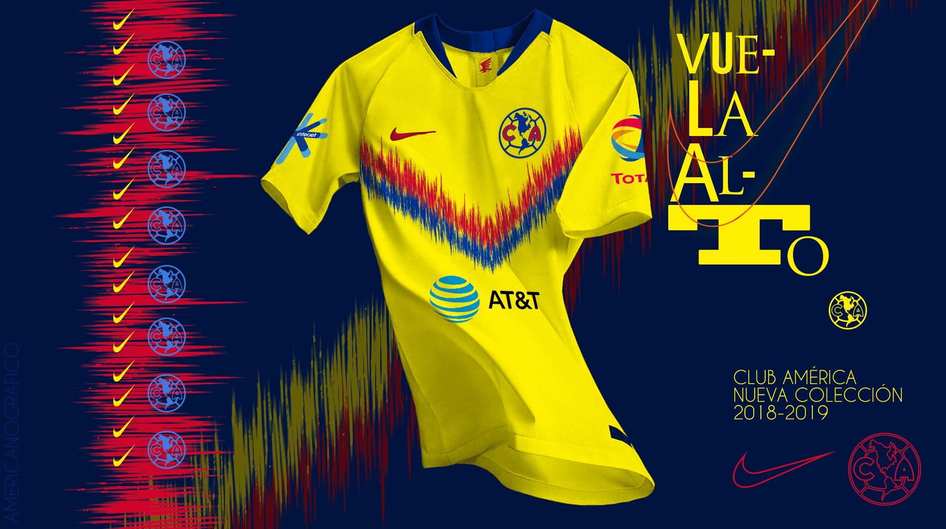 finest selection 02007 0a05d Colección 2018-2019 Nike Club América   LAS SUPER AGUILAS DE ...