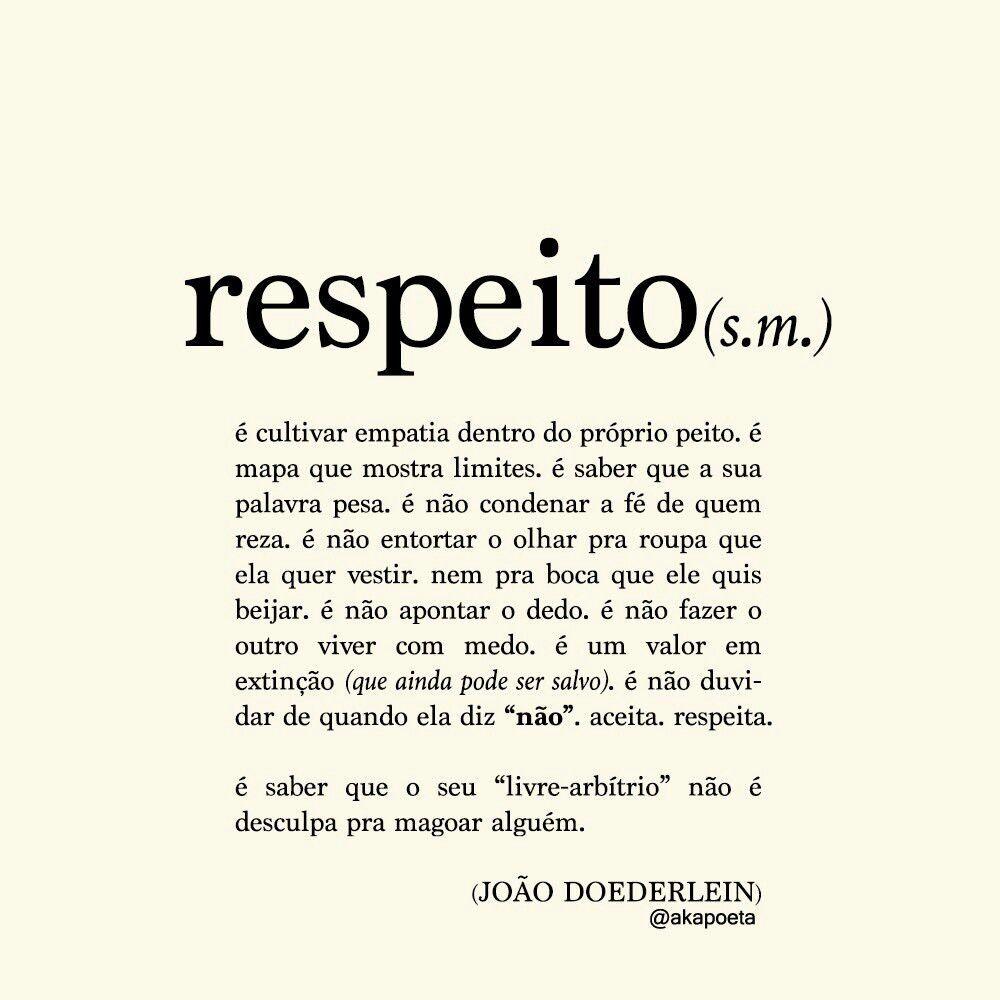 Respeito - João Doederlein | Palavras com significados ...