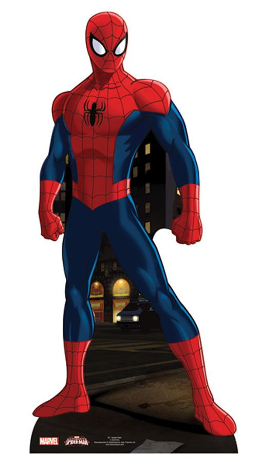 Spider Man Lifesize Cardboard Cutout Standee Standup Marvel Super Hero Spiderman Superhero Cutouts Superhero