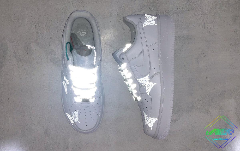 Custom 3M Reflective Nike Air Force 1 Butterfly Limited in