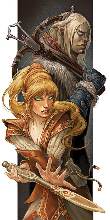 half elf man and woman pathfinder rpg pfrpg dnd d d d20 fantasy
