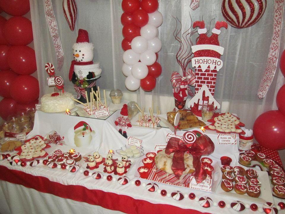 mesa de dulces y postres decoracion navidad pinterest
