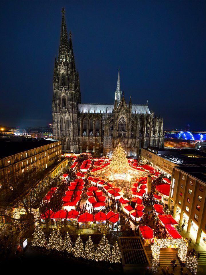 Der Schönste Weihnachtsmarkt.Der Schönste Kölner Weihnachtsmarkt Mit Direktem Blick Auf Den Dom