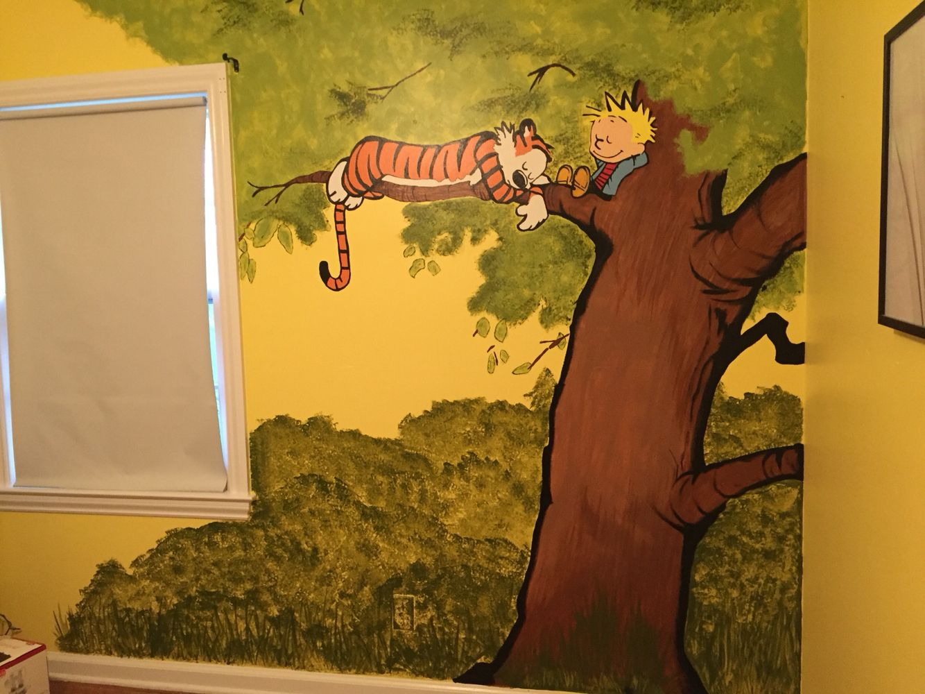 Painted a mural in my nursery this past weekend with my mother in law. I think it turned out super cute.