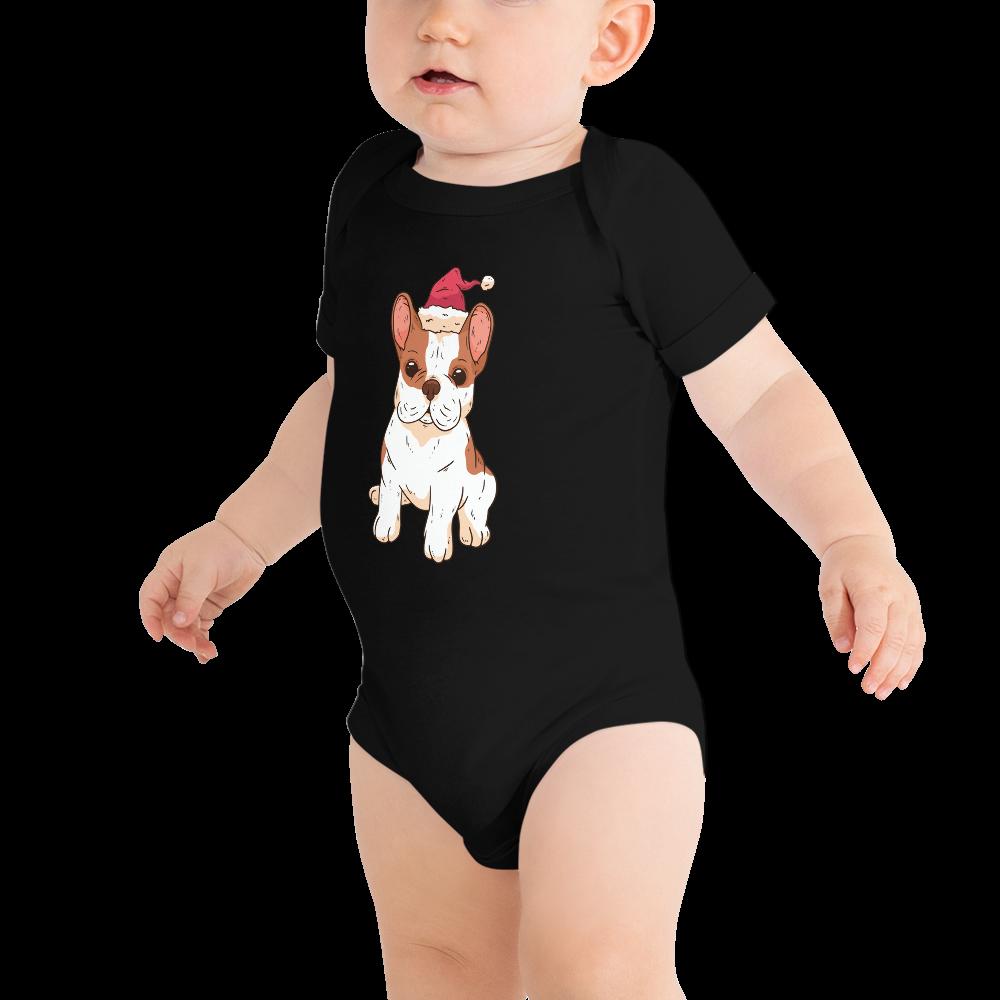 Bulldog Santa Baby Body Baby Einteiler Baby Strampler Santa Baby