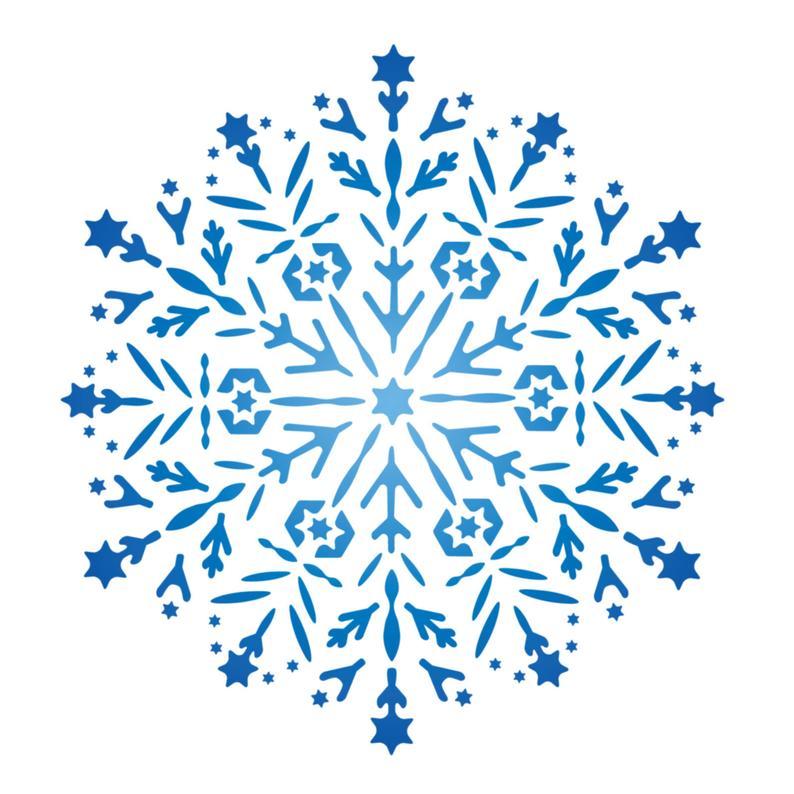 Snowflake Mandala Stencil Christmas Craft 15 x 17 cm Airbrush Template