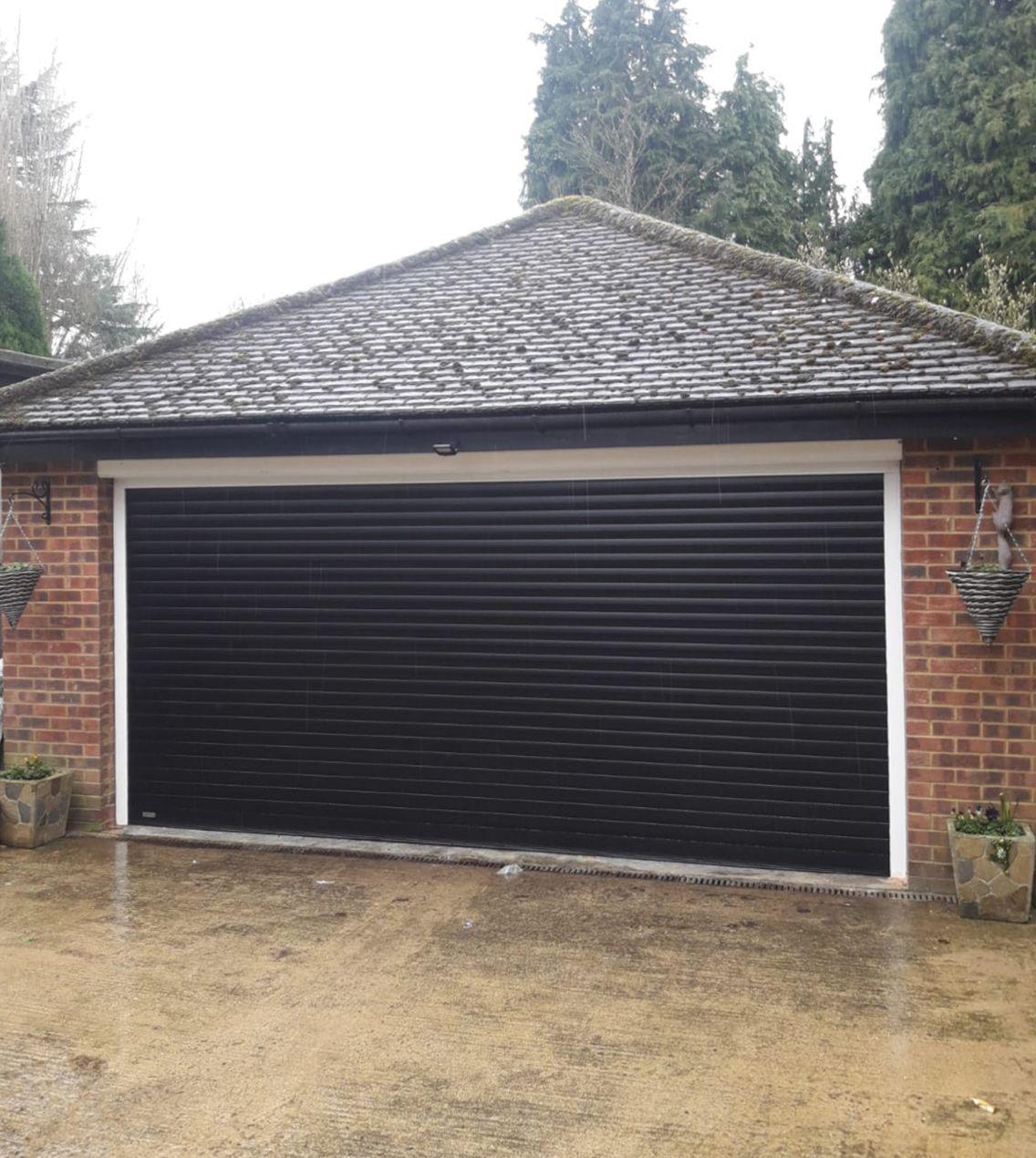 Sws Seceuroglide Double Classic Insulated Roller Garage Door Finished In Black In 2020 Garage Doors Garage Garage Door Opener
