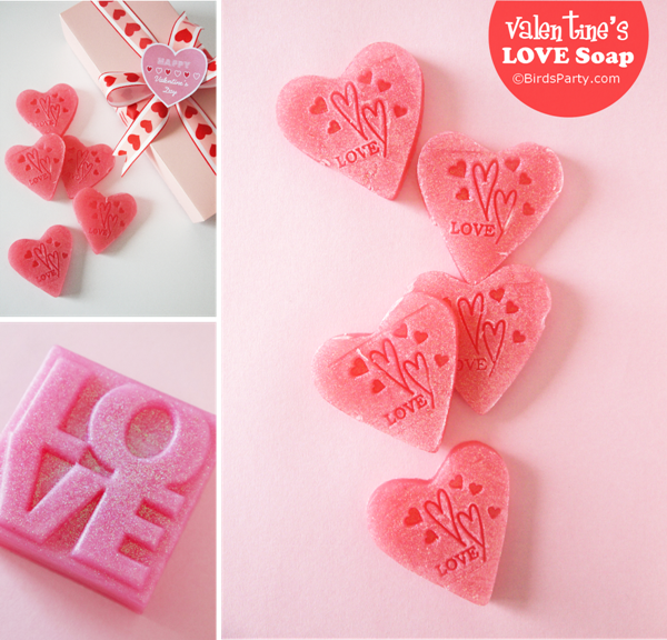 Diy And Sparkly Heart Soap Handmade Gift Valentine S Day