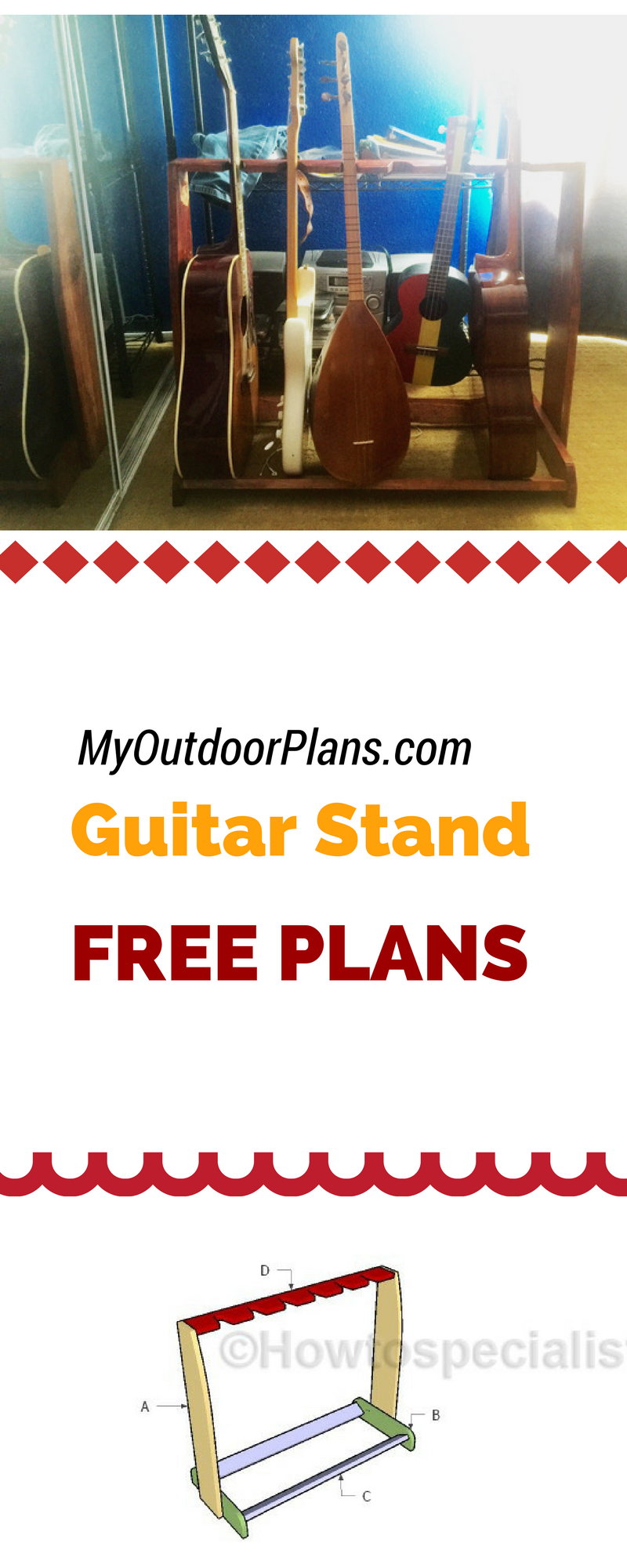 Guitar Stand Plans Diy Plans Pinterest Guitar Stand