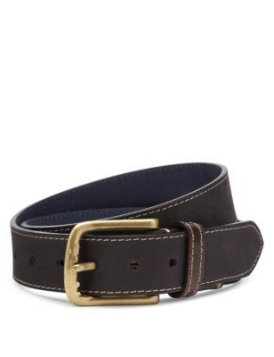 Leather Embossed Belt | M&S