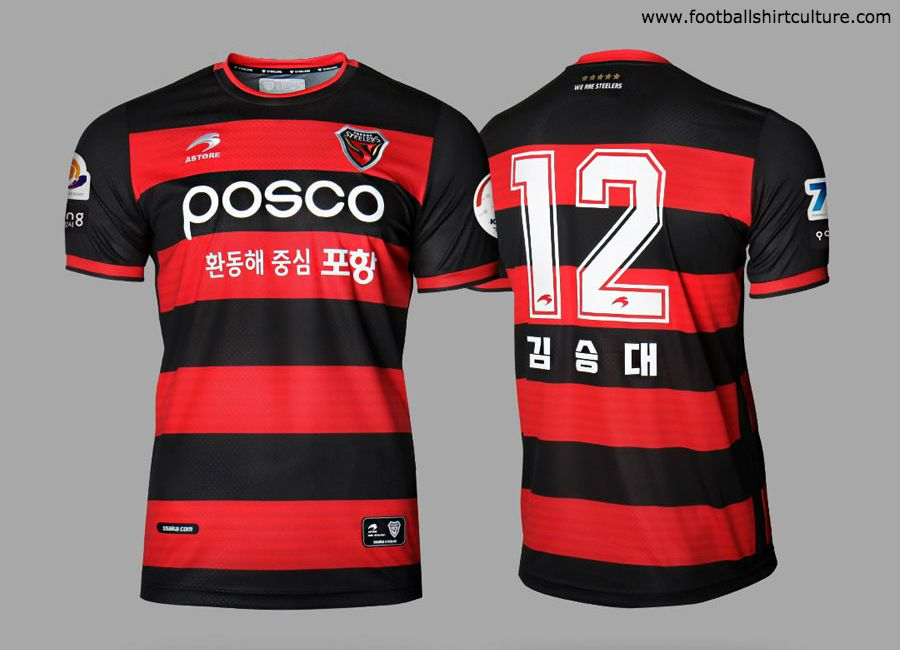 c7db487658e Pohang Steelers 2019 Astore Home Kit  PohangSteelers  kleague ...