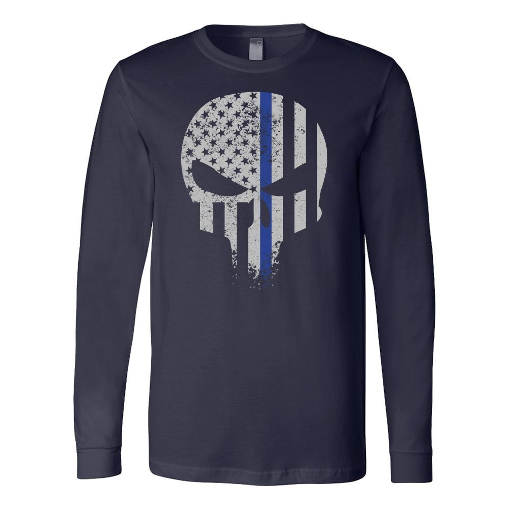 Threadrock Honor & Respect Skullcap Long Sleeve T Shirt - TL00638LS