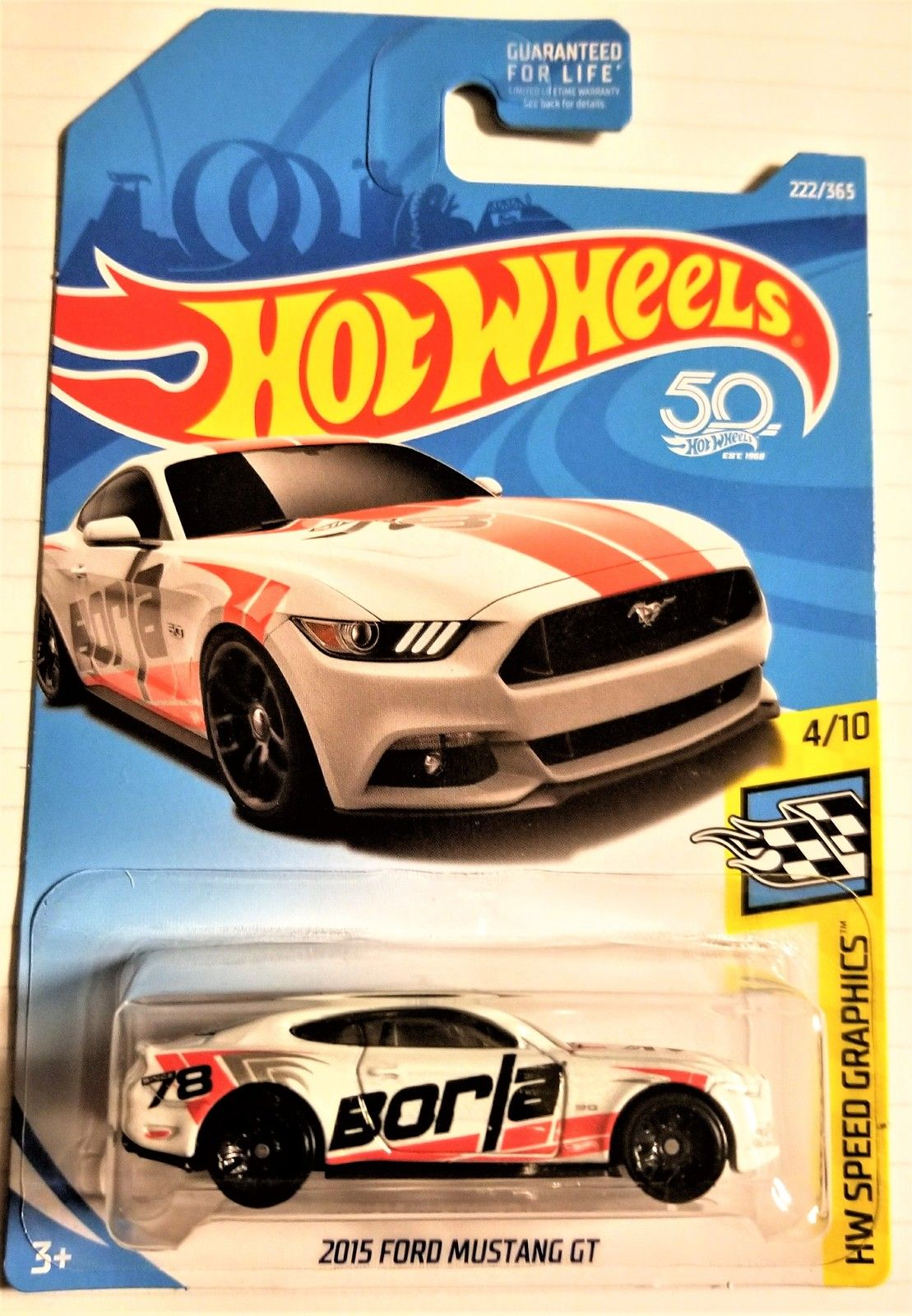 Hot Wheels 50th Anniversary 2015 Ford Mustang Gt Hw Speed