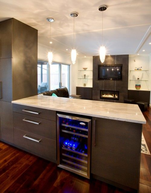 Kitchen Counter Acts Like A Room Divider From Living Area And