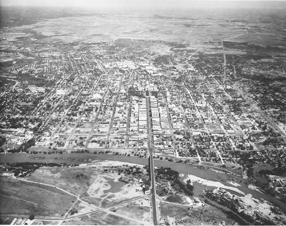 Aerial view of austin 1930 aerial view aerial photo