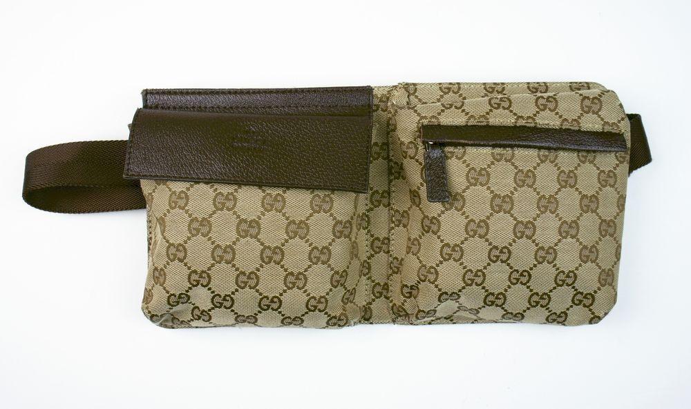 4f591e3cb40c GUCCI Brown Monogram Fanny Pack Waist Belt Bag #Gucci   Gucci Galore ...