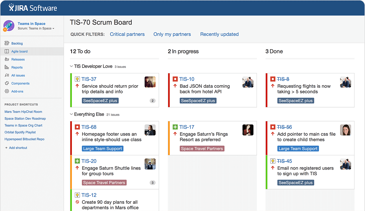 Jira Software Issue Project Tracking For Software Teams Project Management Project Management Tools Software Development