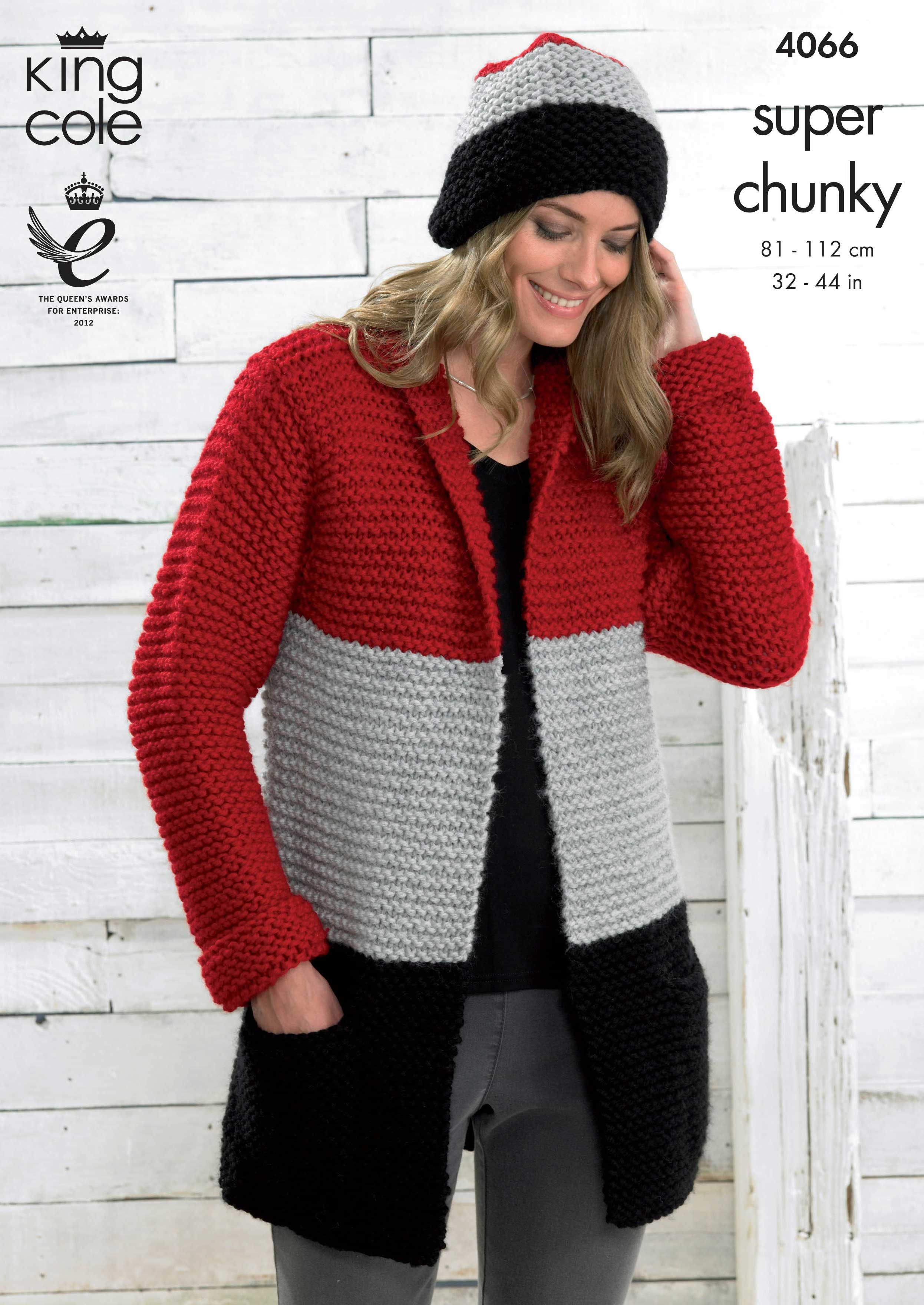 Chunky cardigan in block colours for an almost 80s look - King Cole ...