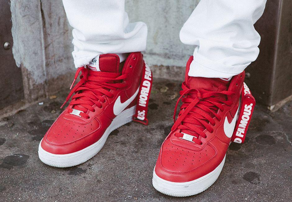 Supreme X Nike Air Force 1 High Release Date Sneakernews Com Nike Air Force Nike Air Air Force 1 High