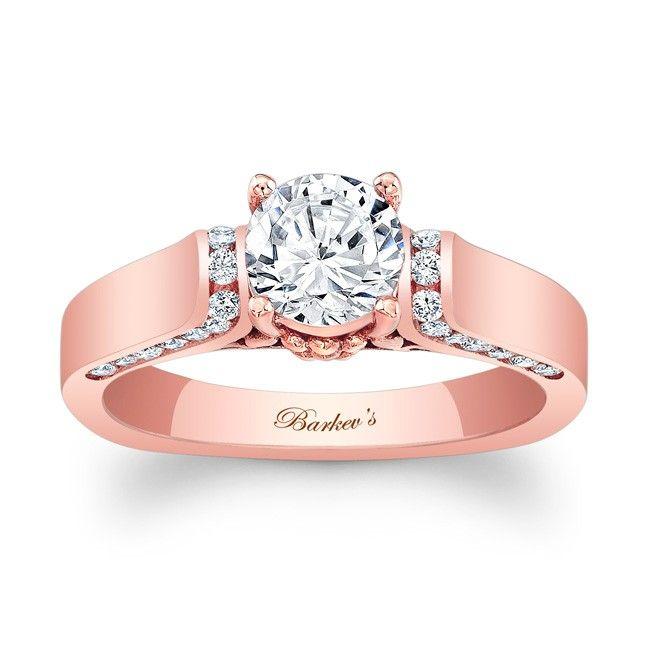 Barkev S Rose Gold Engagement Ring 7942lp Barkev S Rose Gold