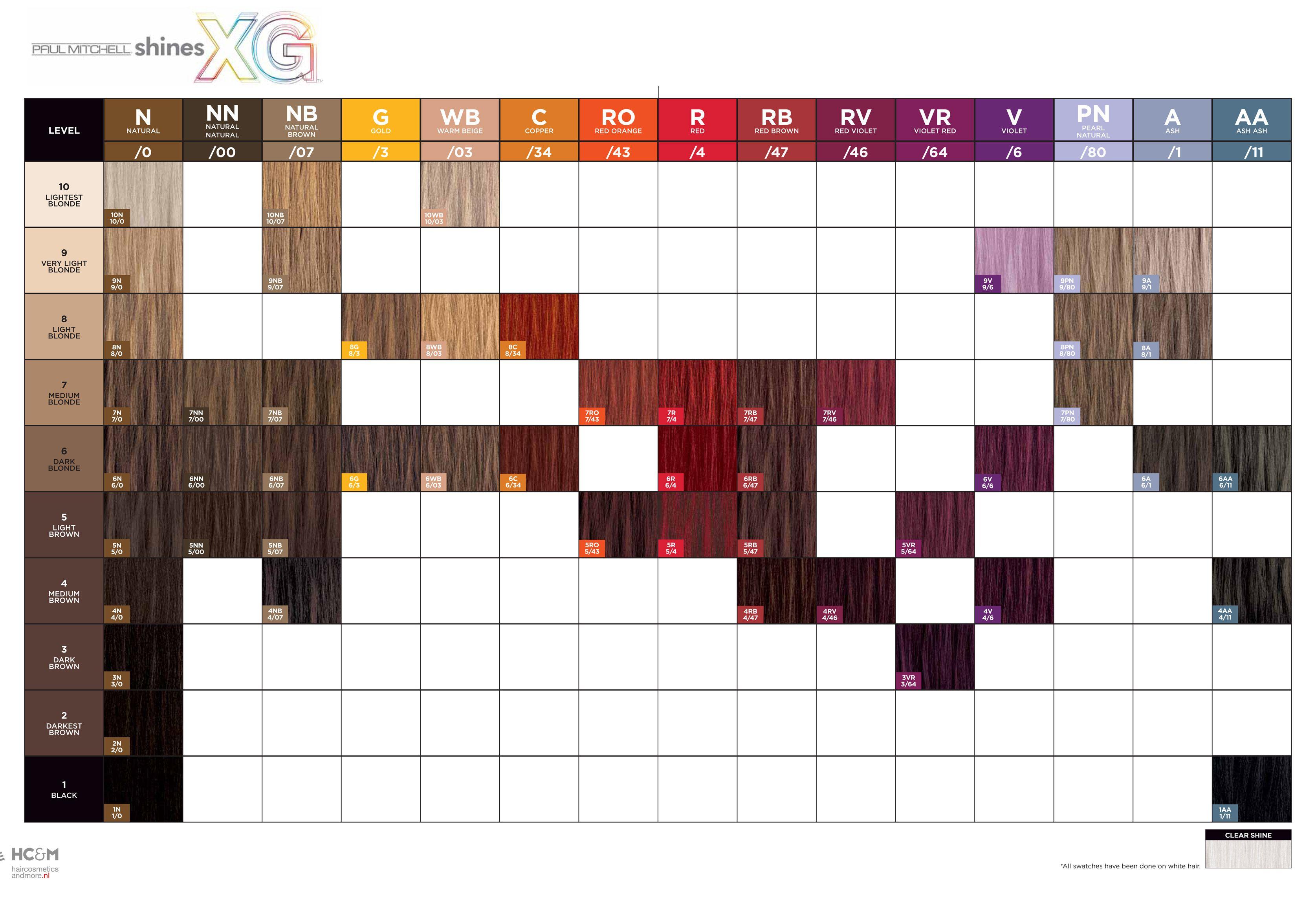 Paul Mitchell Shines Xg Swatch Chart 2014 Hair Color Chart Paul Mitchell Color Paul Mitchell Color Chart