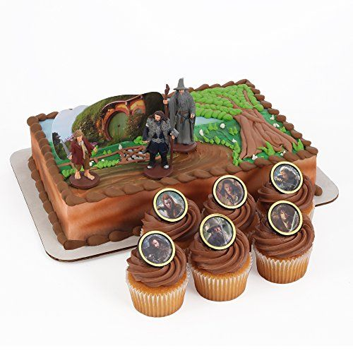 BESTSELLER! The Hobbit Cake Topper and 24 Cupcake... $12.99