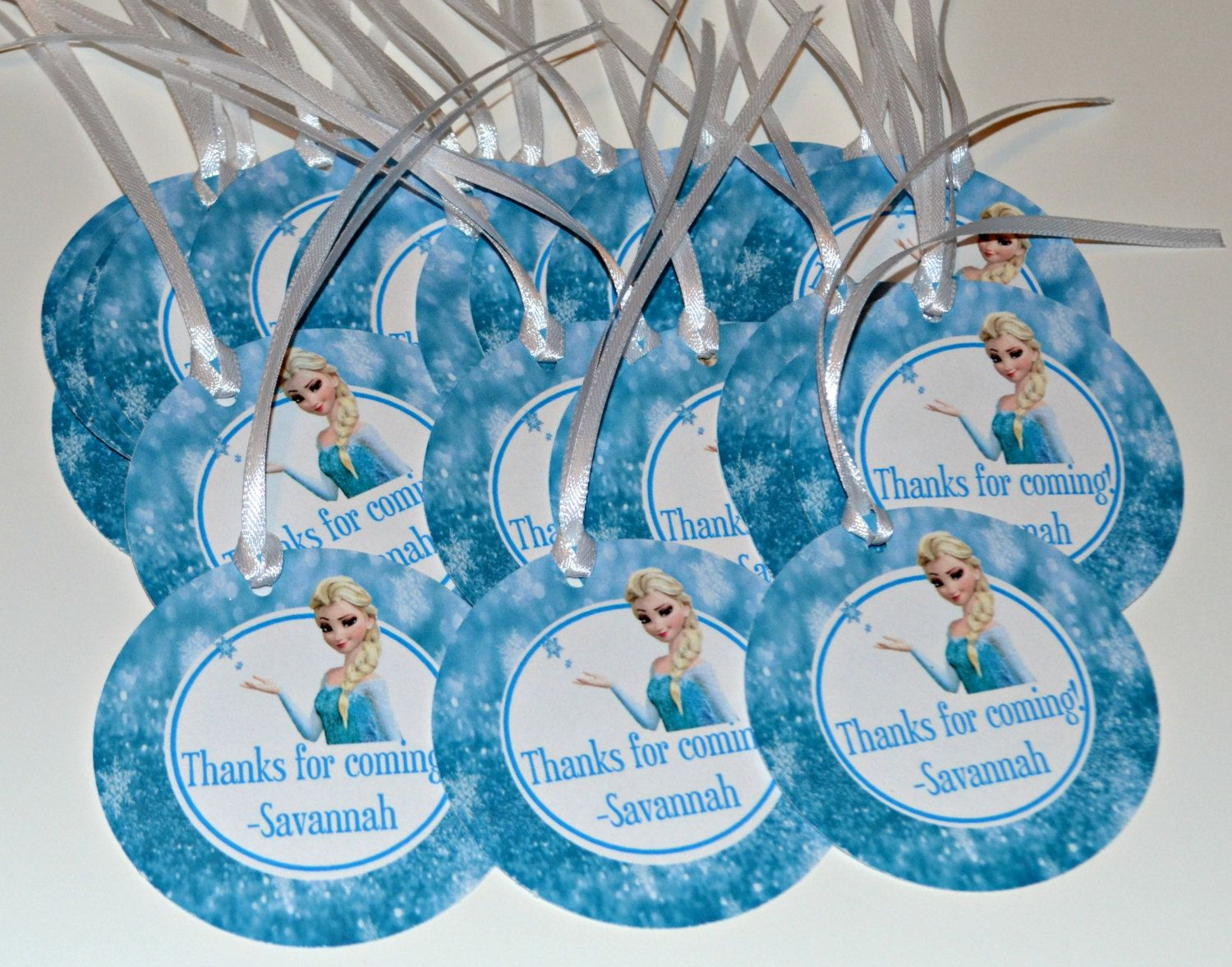 12 Custom Favor Tags Frozen Elsa Gift By TheSisterStudio 950