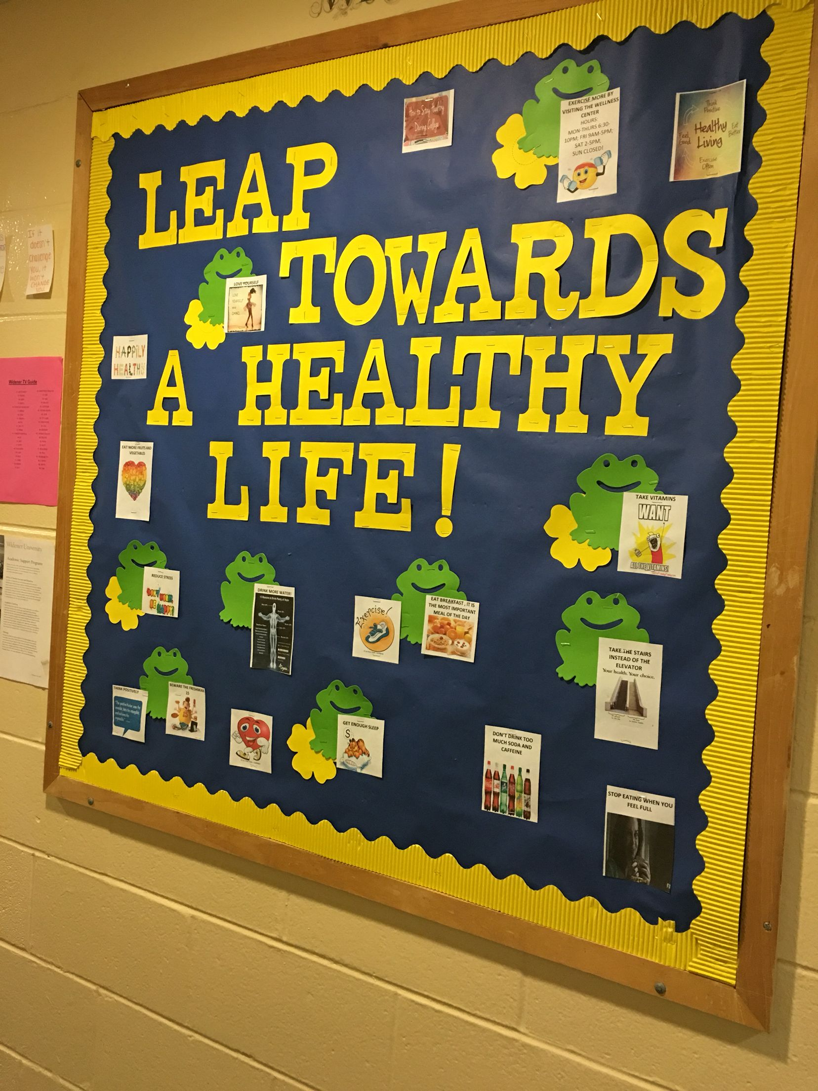Health And Wellness Bulletin Board Door Decs