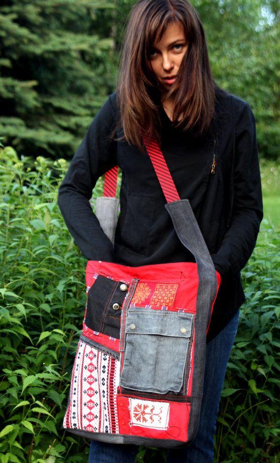 patchwork ethnic folk bag hippie boho by jamfashion on Etsy, $48.00