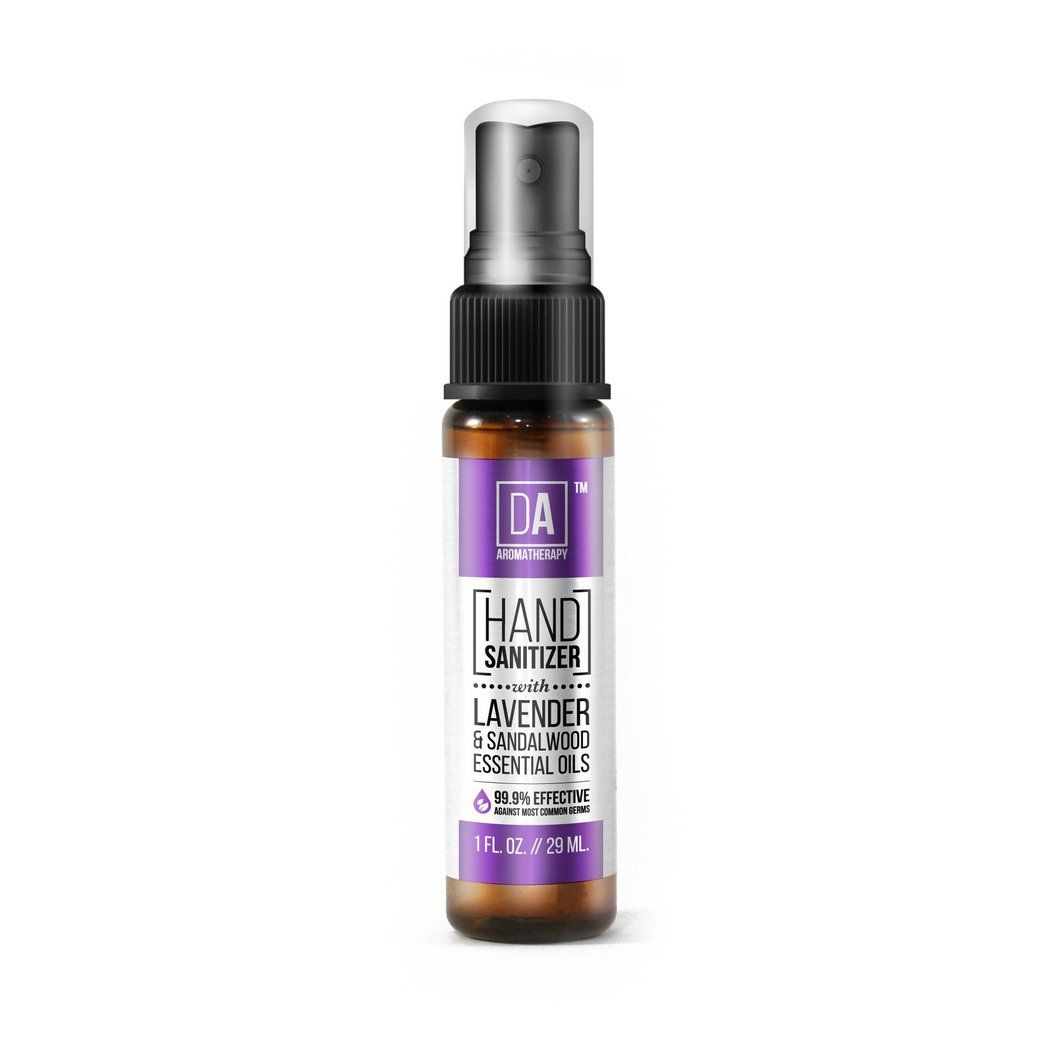 Natural Hand Sanitizer Spray With Organic Lavender Sandalwood