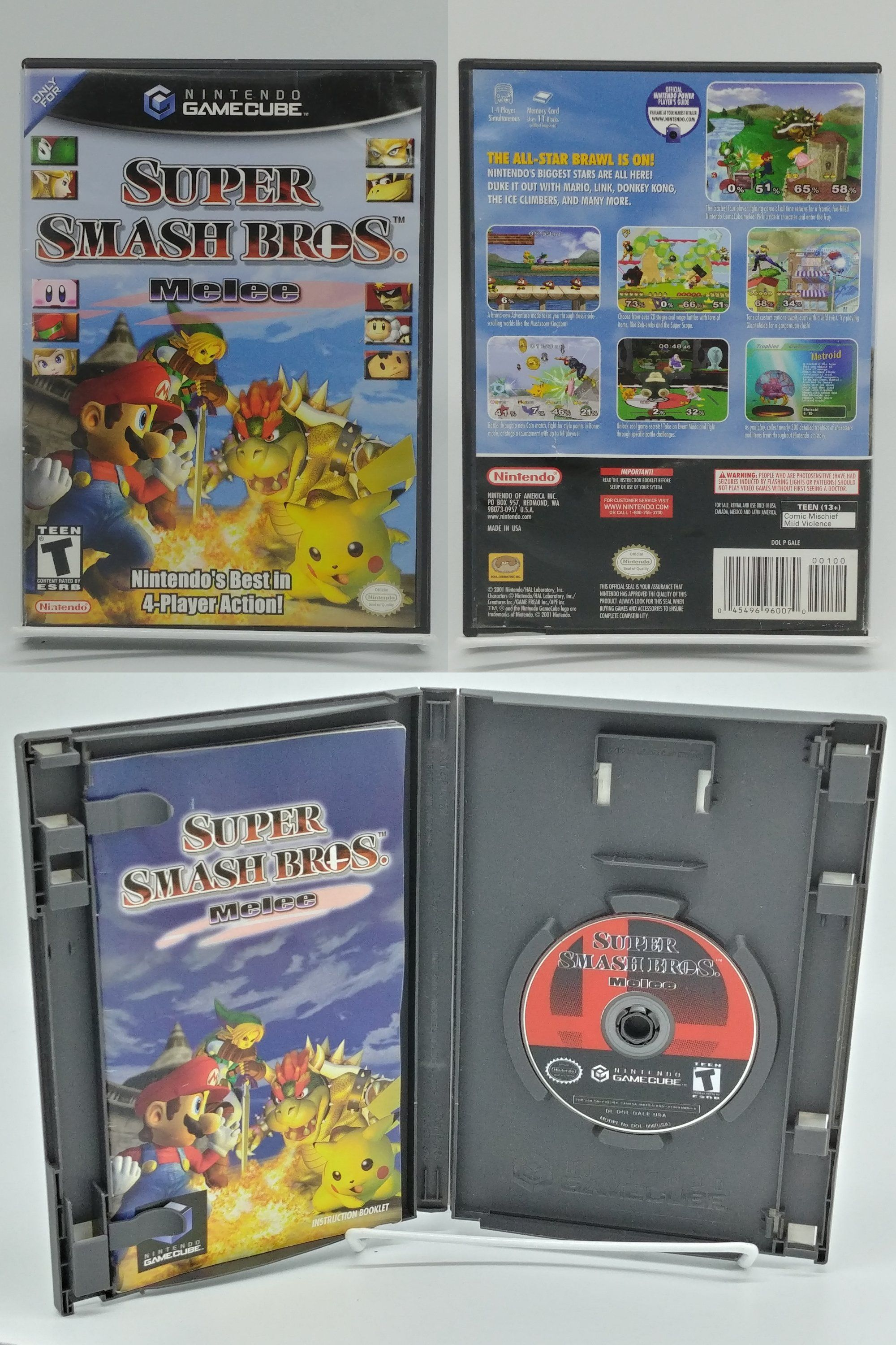 gamecube with super smash bros melee