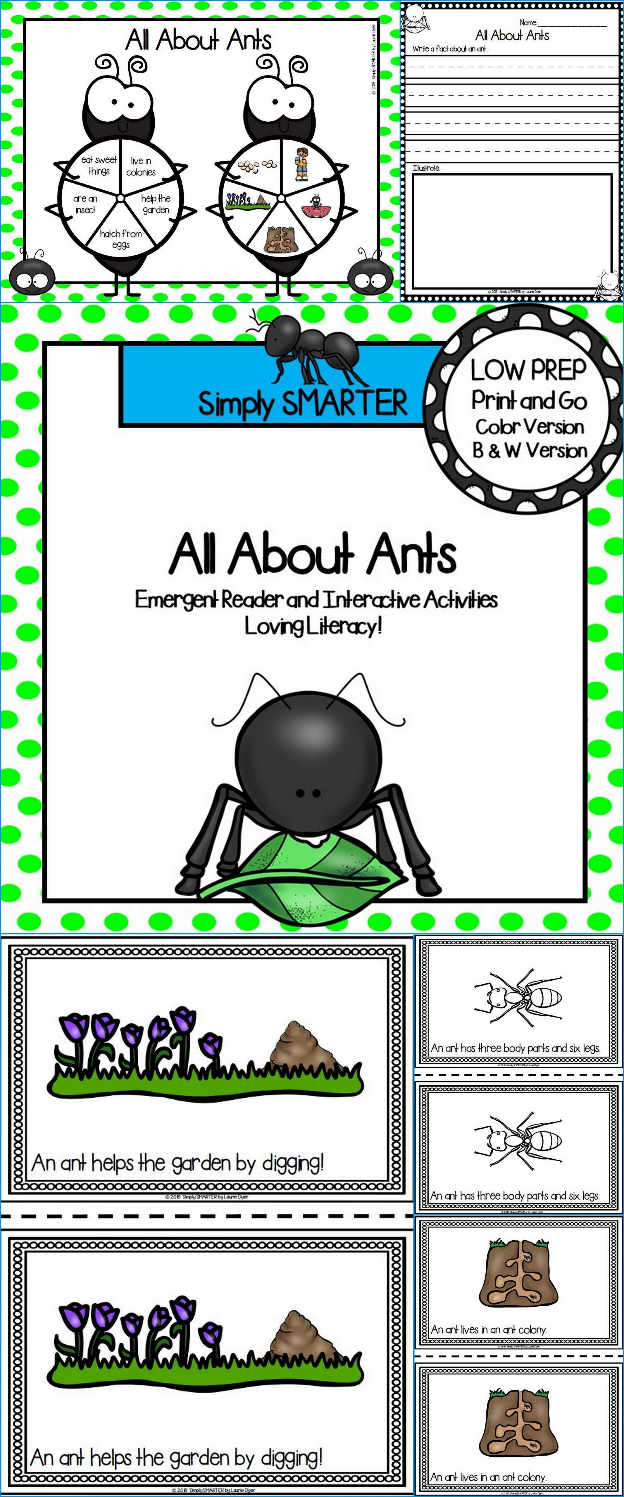 Are You Looking For A Low Prep Reading Activity For Preschool Kindergarten Or First Grade Then Use T Interactive Activities Ants Activities Emergent Readers Preschool reading activities online