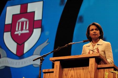 Condoleezza Rice, who served as secretary of state for President George W. Bush, was the keynote speaker for Union's 12th annual Scholarship Banquet at the Carl Perkins Civic Center.