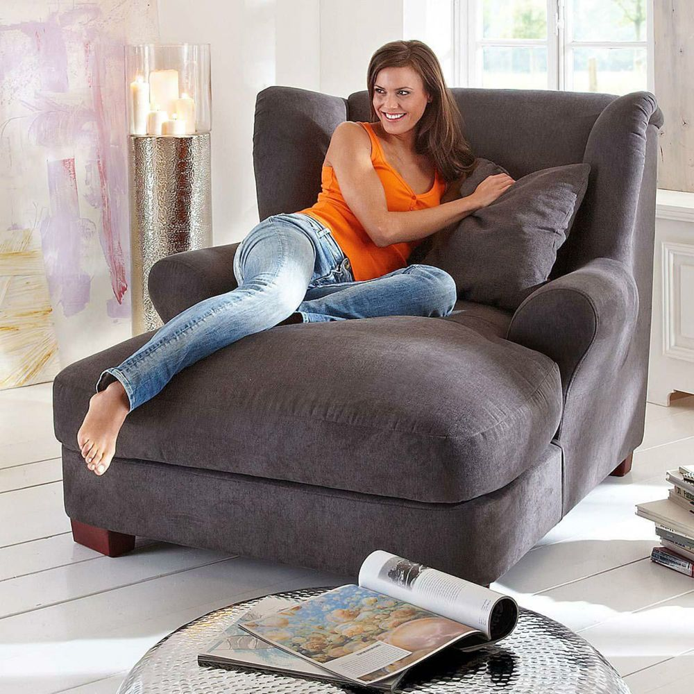 big longchair big sessel megasessel xxl sessel ohrensessel braun design in m bel wohnen m bel. Black Bedroom Furniture Sets. Home Design Ideas