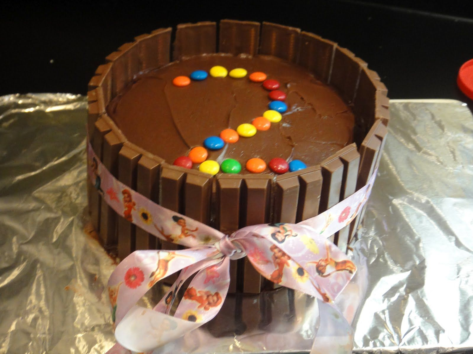 Kit-kat cake I made from Pinterest recipe